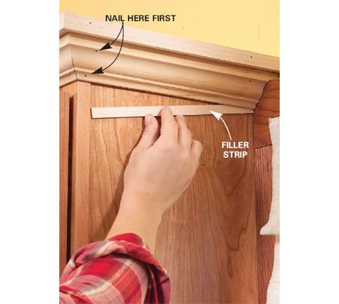 How To Neatly Finish Crown Molding Use Scribe Where Necessary