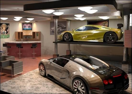 Garage Stunning Modern Design Ideas With Placed Close To Small Living Room And Home Bar Also Can Be Luxury Dec Decor