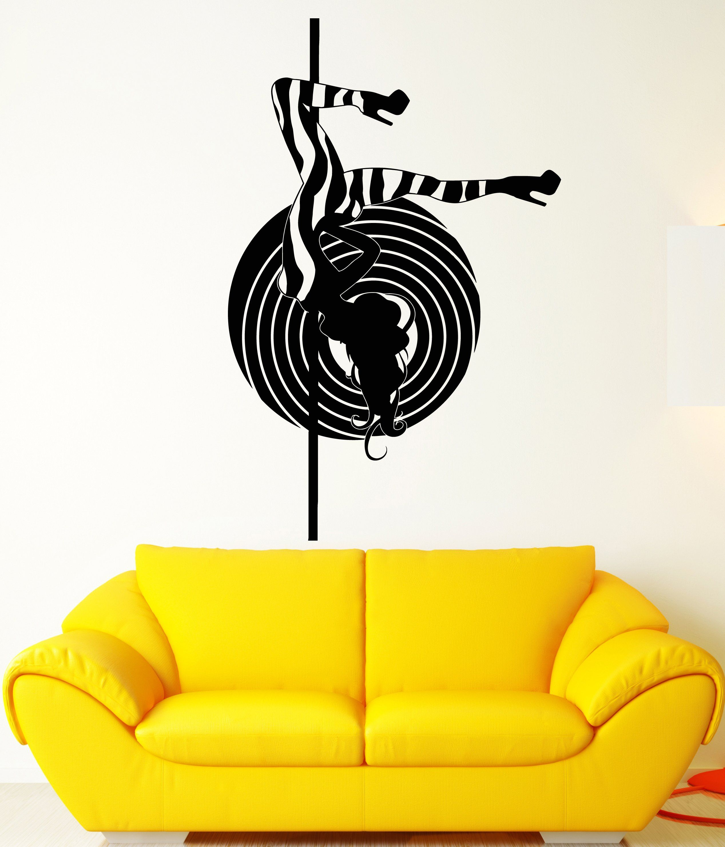 Vinyl Wall Decal Striptease Sexy Stripper Hot Naked Girl Stickers ...
