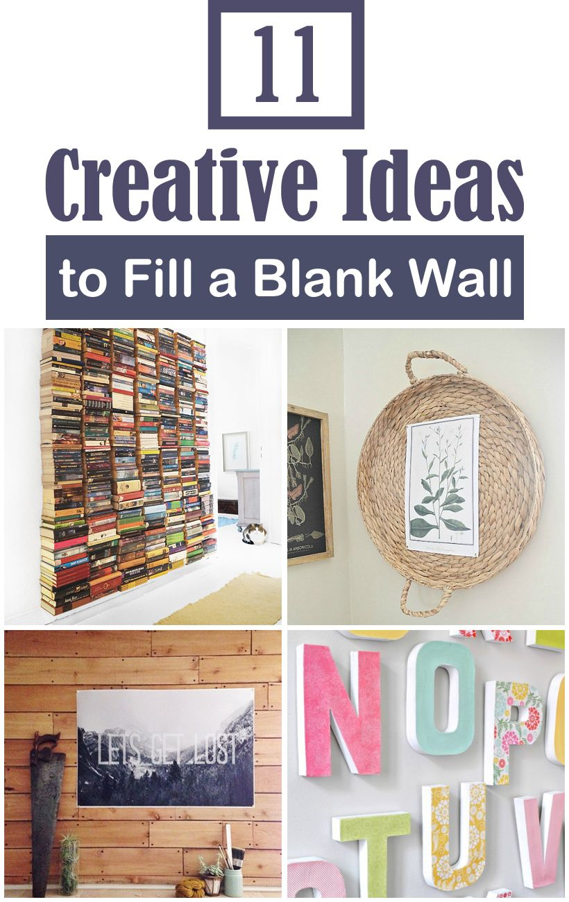 11 Creative Ideas To Fill A Blank Wall On A Tiny Budget Filling