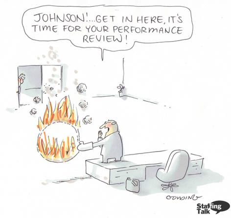 Is this how performance reviews seem to employees? E vero - performance reviews