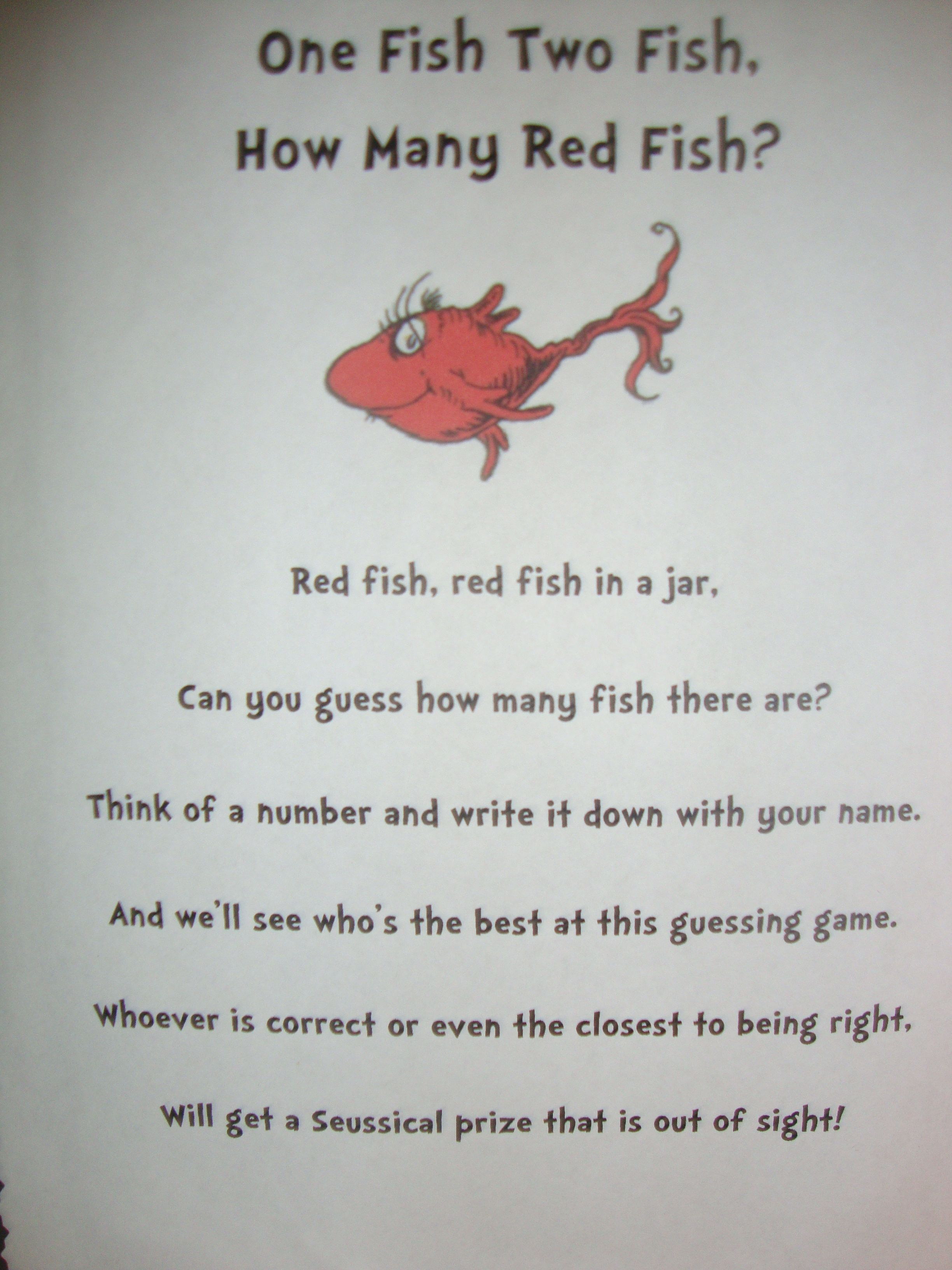 Guess how many fish game poem fish pinterest fish for The fish poem