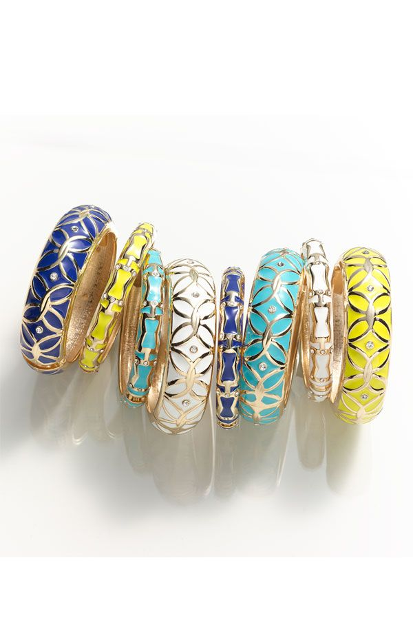 Enamel bangles by Sequin