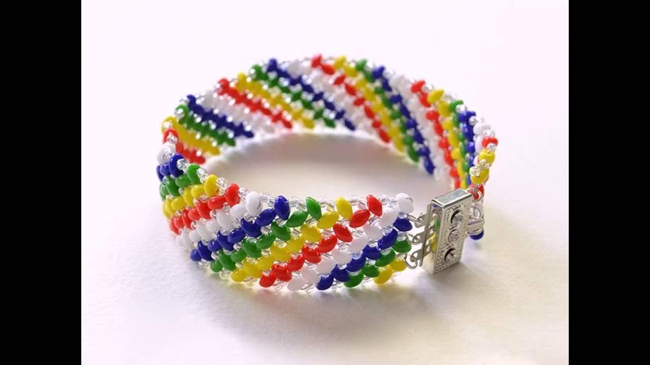 Wie fertiegt man handgemacht armband mit regenbogen loch rocailles
