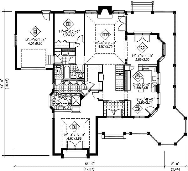 54 X 56 Mediterranean Style House Plans Small House Floor Plans Home Design Floor Plans