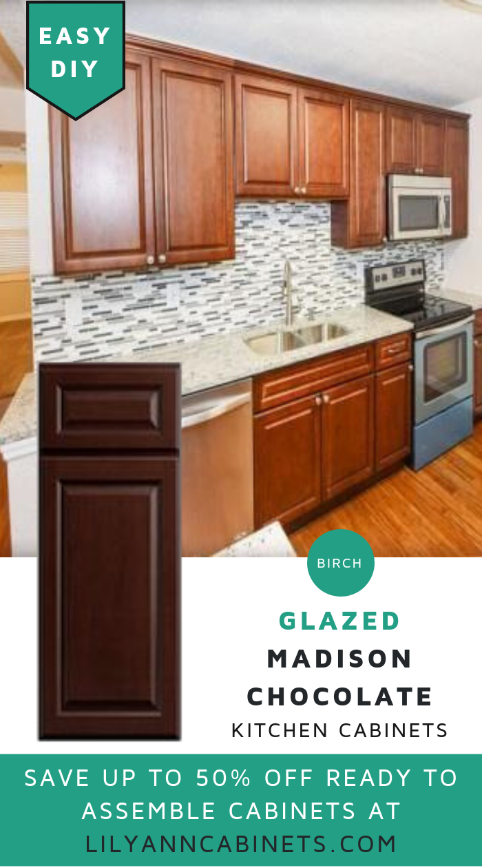 Lilyanncabinets Madison Chocolate Kitchen Cabinets Are From Grade A Natural Birch Wood Fe Kitchen Cabinets Diy Kitchen Cabinets Kitchen Cabinets In Bathroom