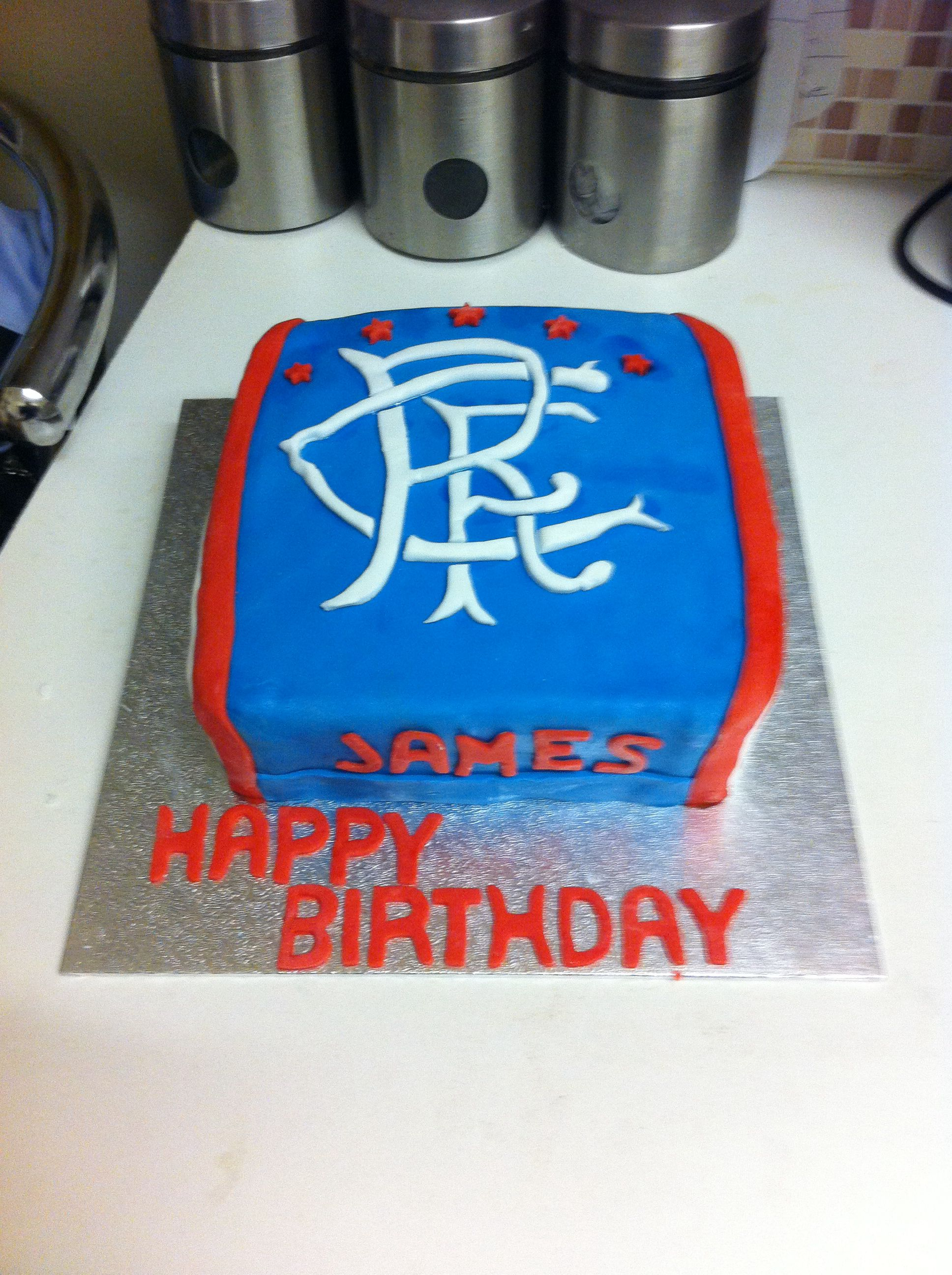 Glasgow rangers birthday cake Scottish Pinterest