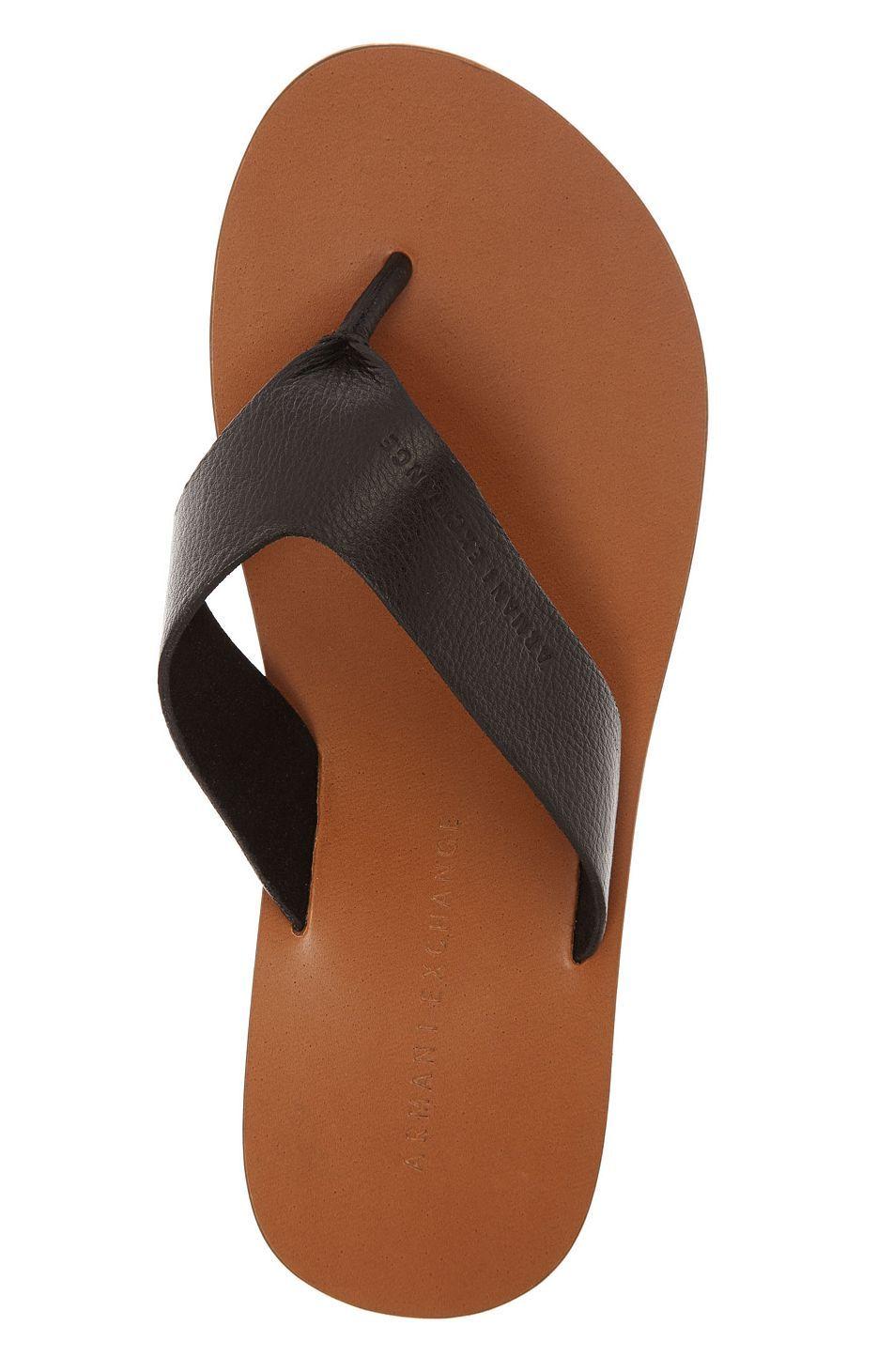 4ec156d5ebe Leather Flip Flop - Accessories Shop - Mens - Armani Exchange ...