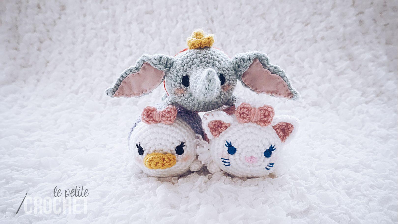 Tsum Tsum Amigurumi Pattern Free : Disney tsum tsum amigurumi crochet featuring dumbo daisy duck