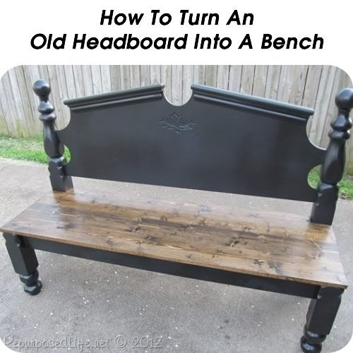 How To Turn An Old Headboard Into A Bench Decorating Pinterest - muebles reciclados