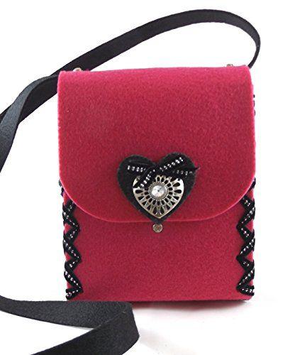Herbys Trachtentasche Lady Pink Dirndltasche Filztasche