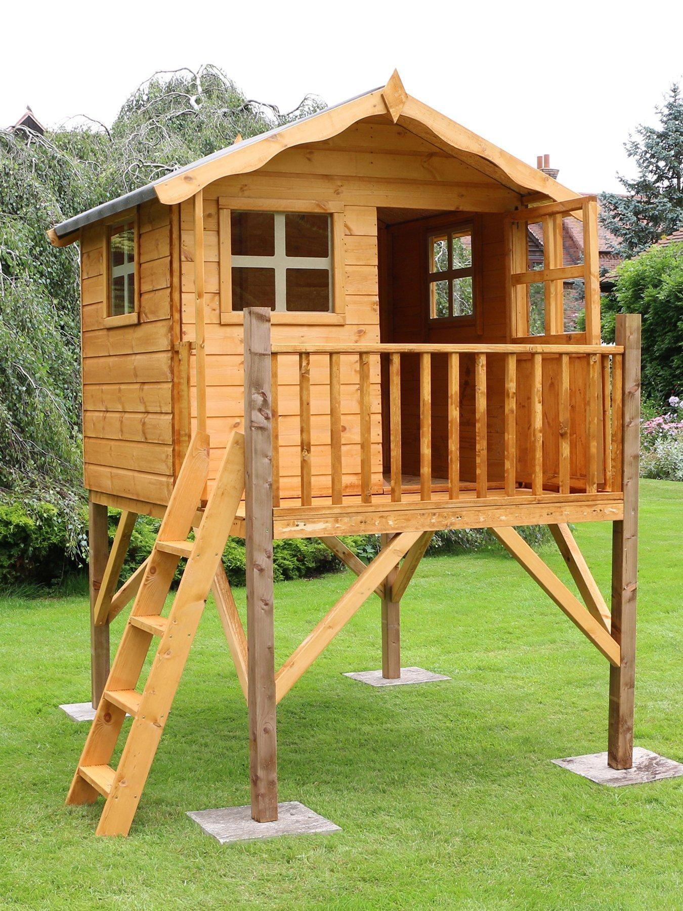 MERCIA 7 x 5ft Poppy Tower Playhouse Play houses, Tree
