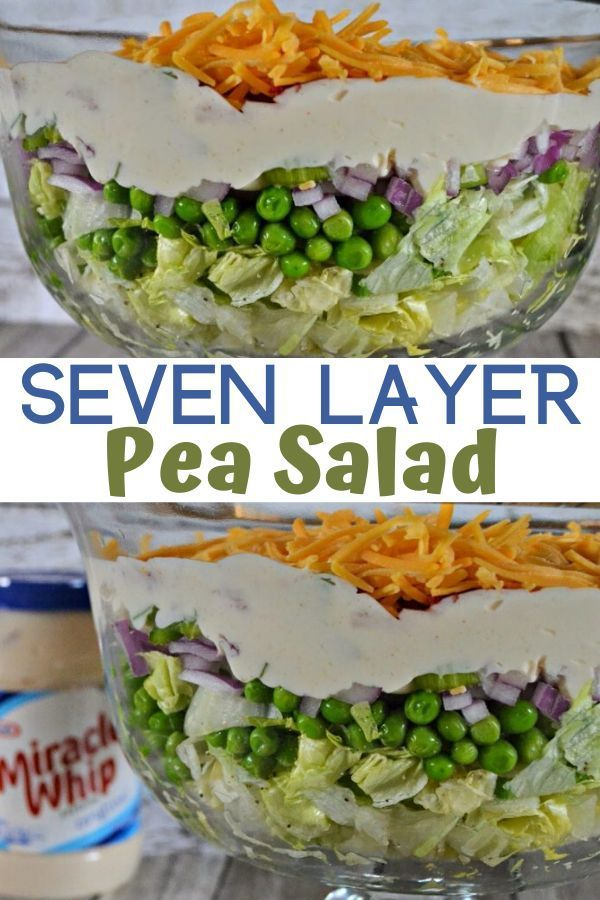 7 Layer Pea Salad Recipe Recipe In 2020 Layered Salad With Peas Pea Salad Recipes Layered Salad