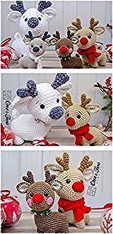 Photo of Patrones gratuitos de renos navideños de Amigurumi – Patrones gratuitos de Amigurumi …,  #A…