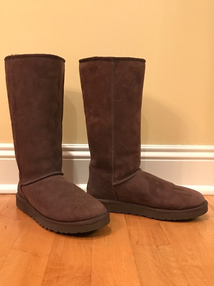 0a032278b06 Classic Tall Ugg Boots Size 11 Chocolate #fashion #clothing #shoes ...
