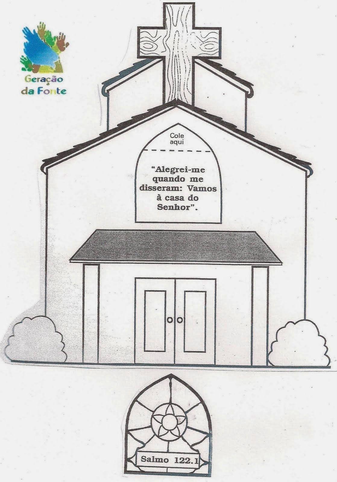 Desenho De Igreja Para Colorir Em 2020 Igreja Desenhos Desenho
