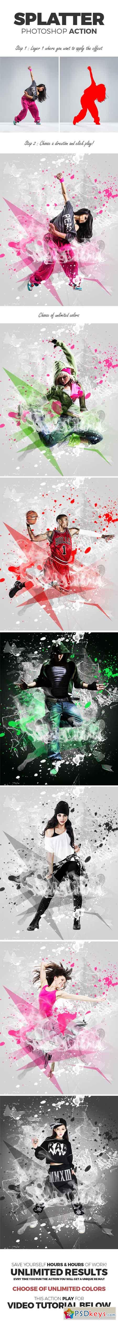 Splatter Photoshop Action 15573290