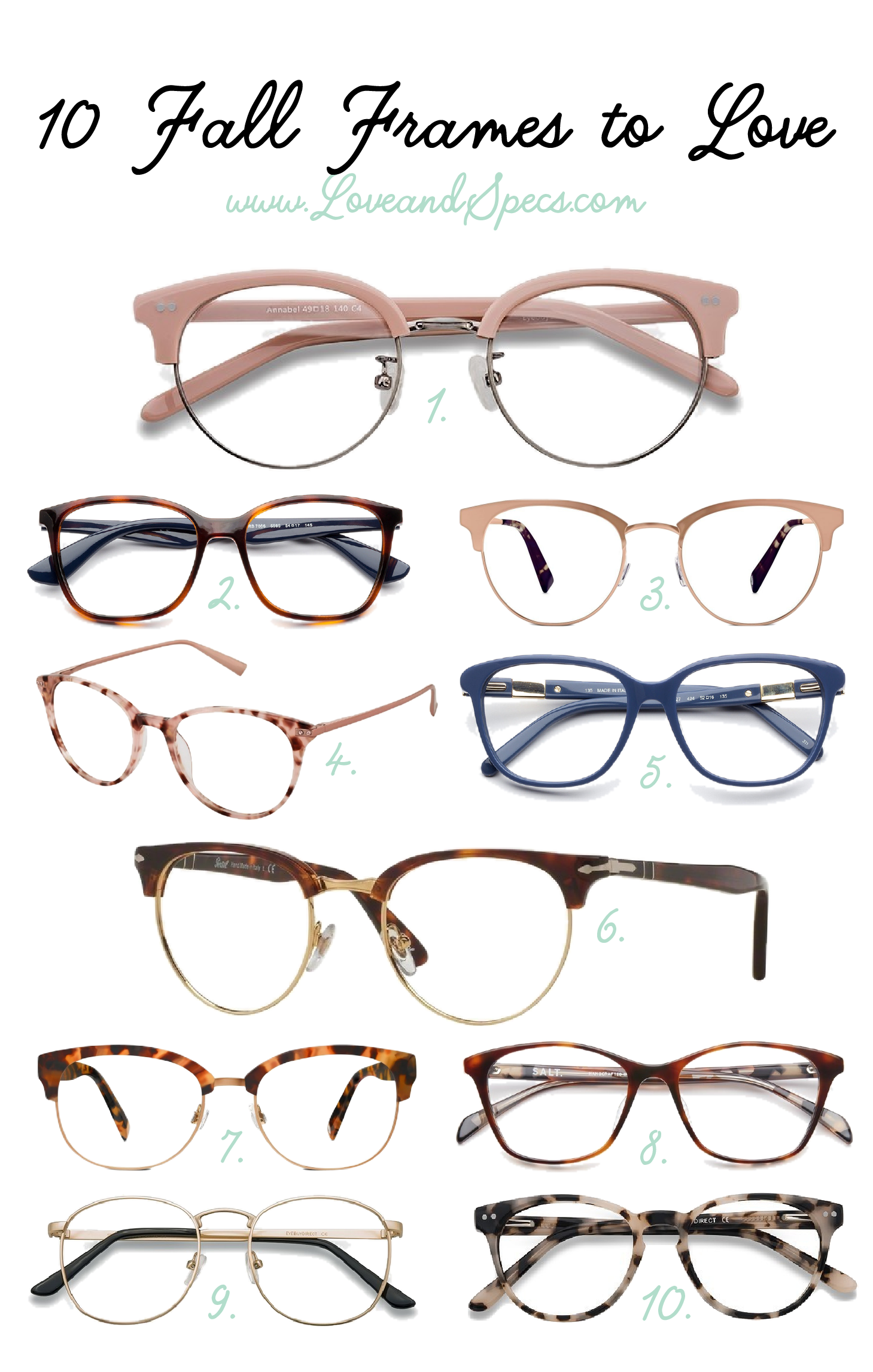 Aug 25 The Best Fall Glasses Frames for Women | Glass, Fashion ...