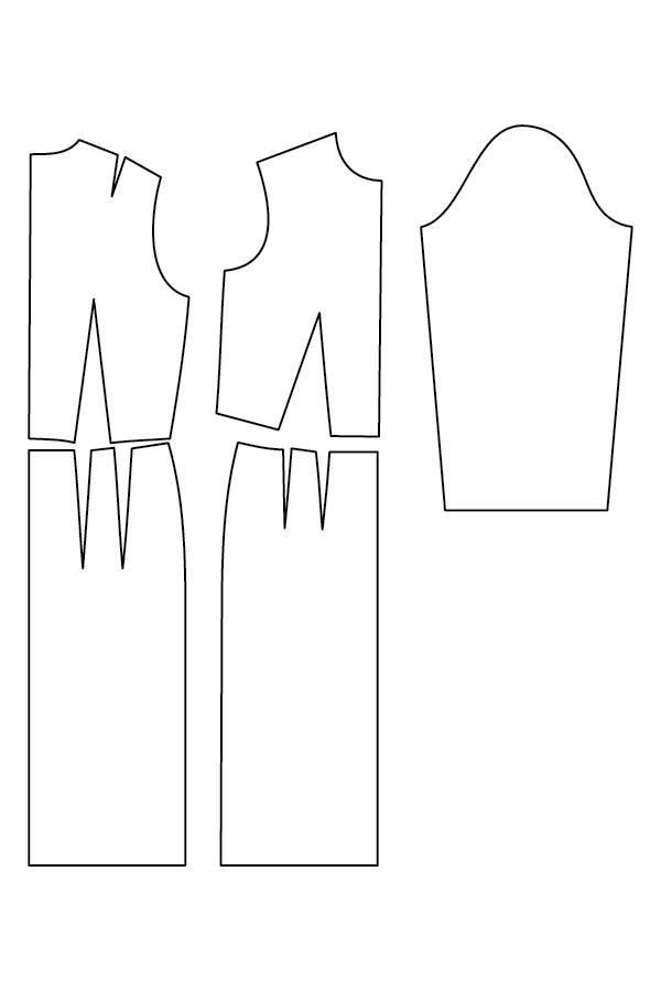 Sewing Pattern Technical Drawing, The Sewing Pattern Blocks or ...