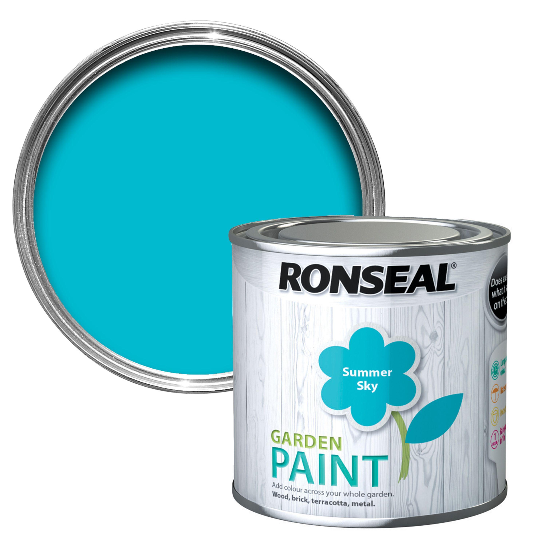 ronseal garden summer sky matt garden paint 0 25l garden