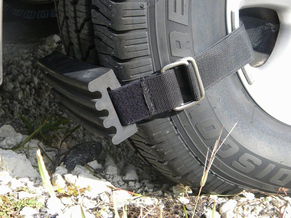 Trac-Grabber - Strap-On Tire Traction Blocks | Mini van, Trucks, Car tires