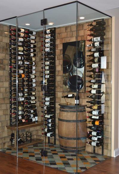 La Cava En Casa Blogdecoraciones Minibares En Casa Bodegas De Vino Botellero Moderno