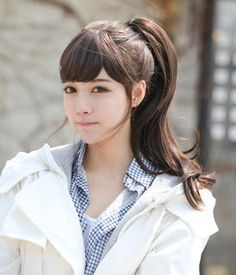 asian girls hairstyle pony tail