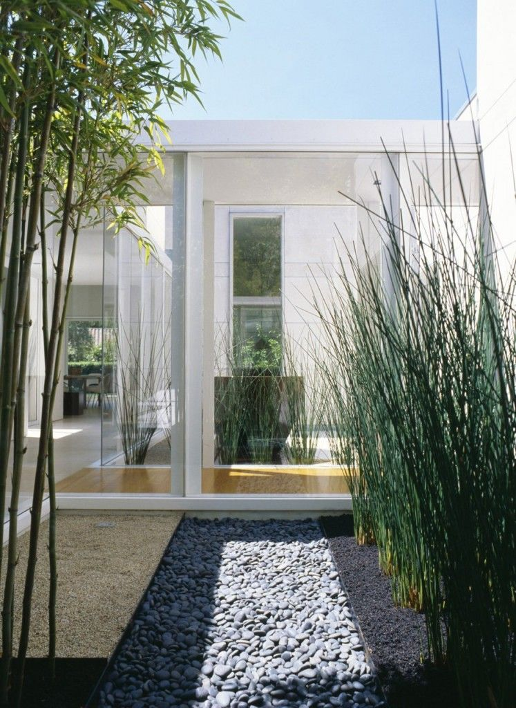 garden garden courtyard modern single house design with bamboo