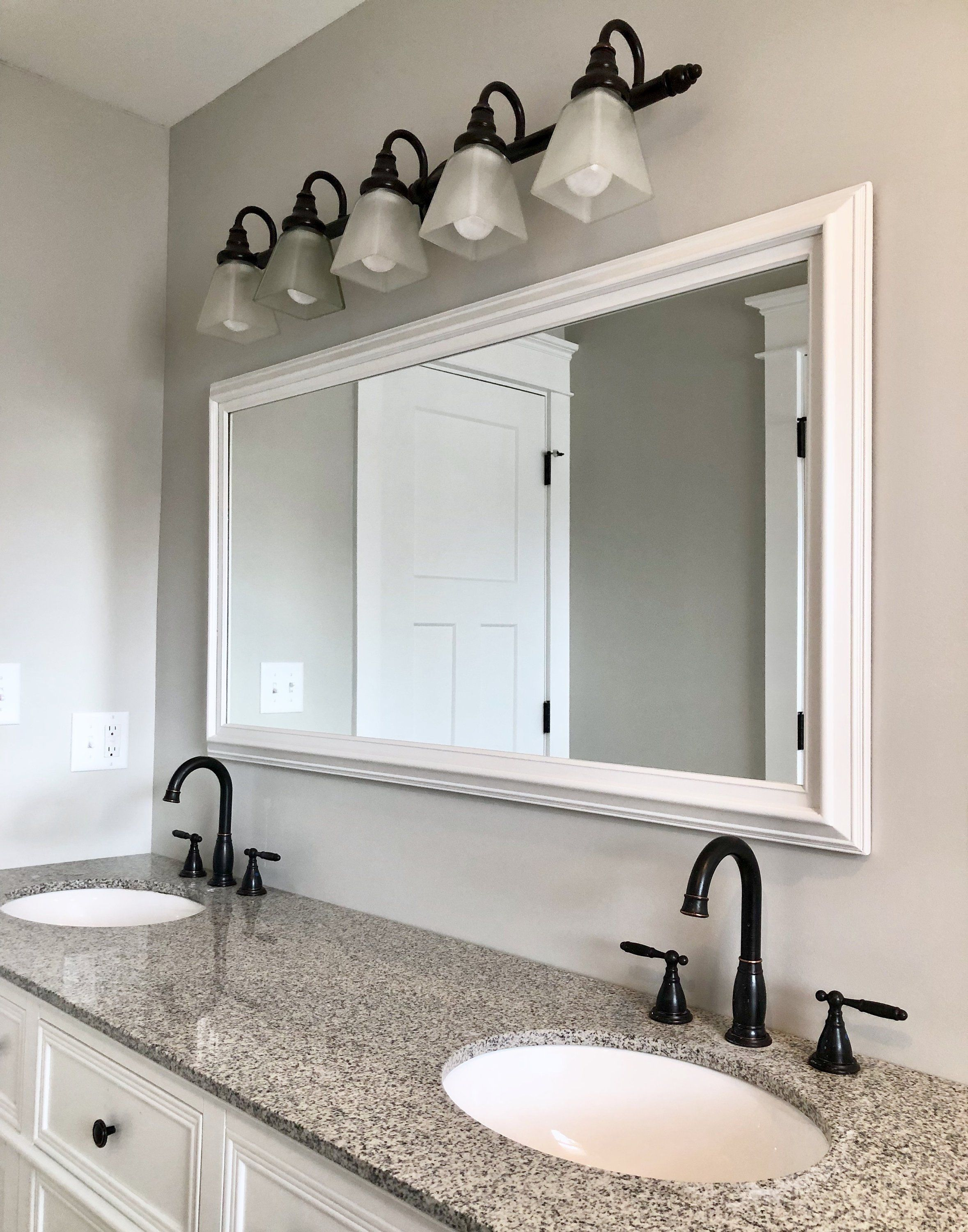 Large White Mirror 53 X29 Bathroom Vanity