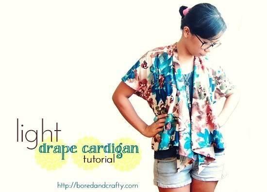 tutorial: light drape cardigan