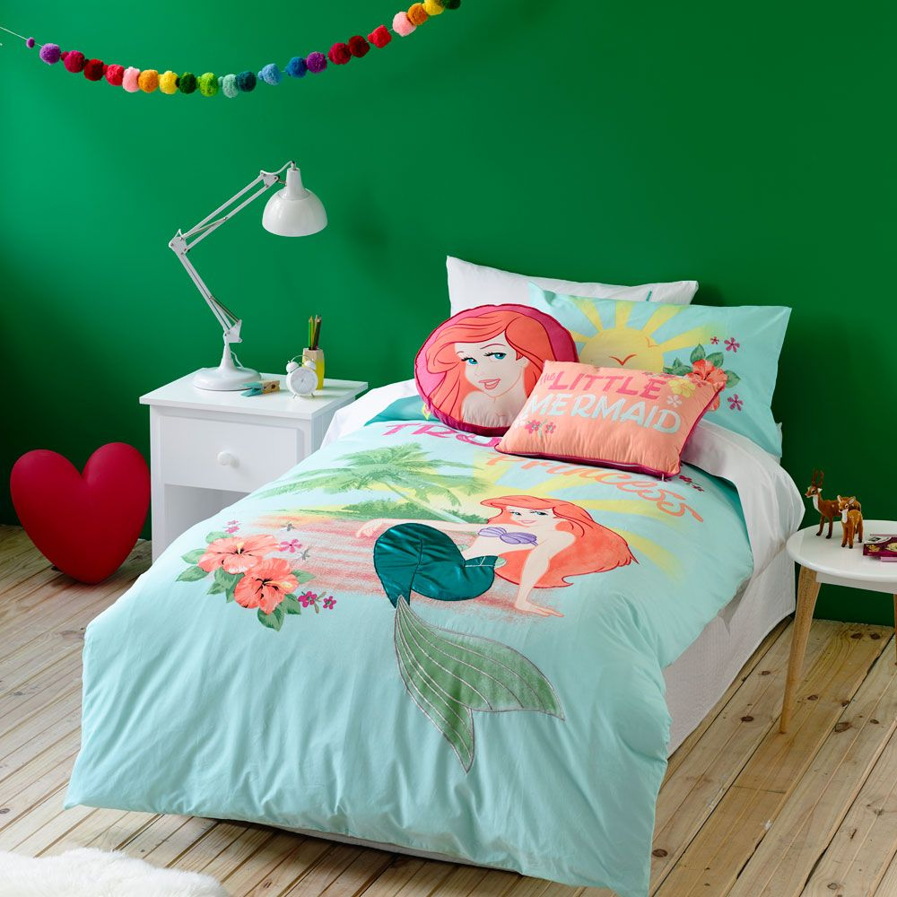 Quilt Covers Coverlets Mermaid Toddler Bedding Little Mermaid Bedroom Bed Cover Sets
