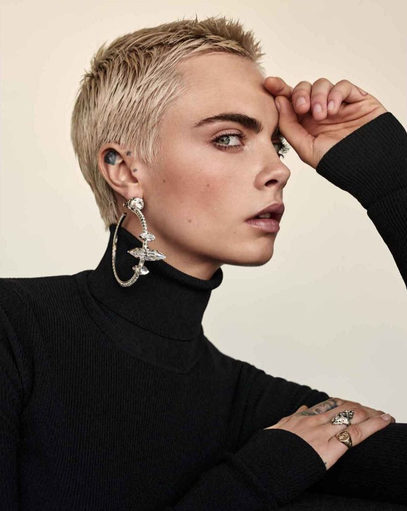 Cara Delevingne Shines in Rebellious Styles for Th