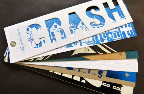 My Favorite Place to Crash | multiple substrates and techniques including die cuts, foils, birch veneer, chip board and screw posts