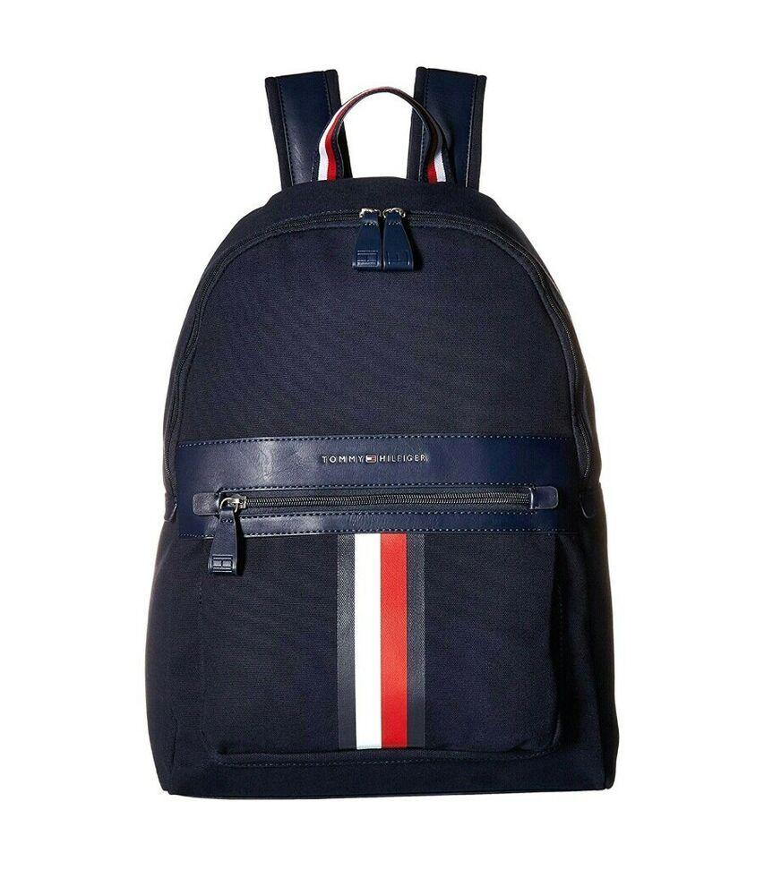 Tommy Hilfiger Men's Icon Backpack Canvas Laptop Book Bag