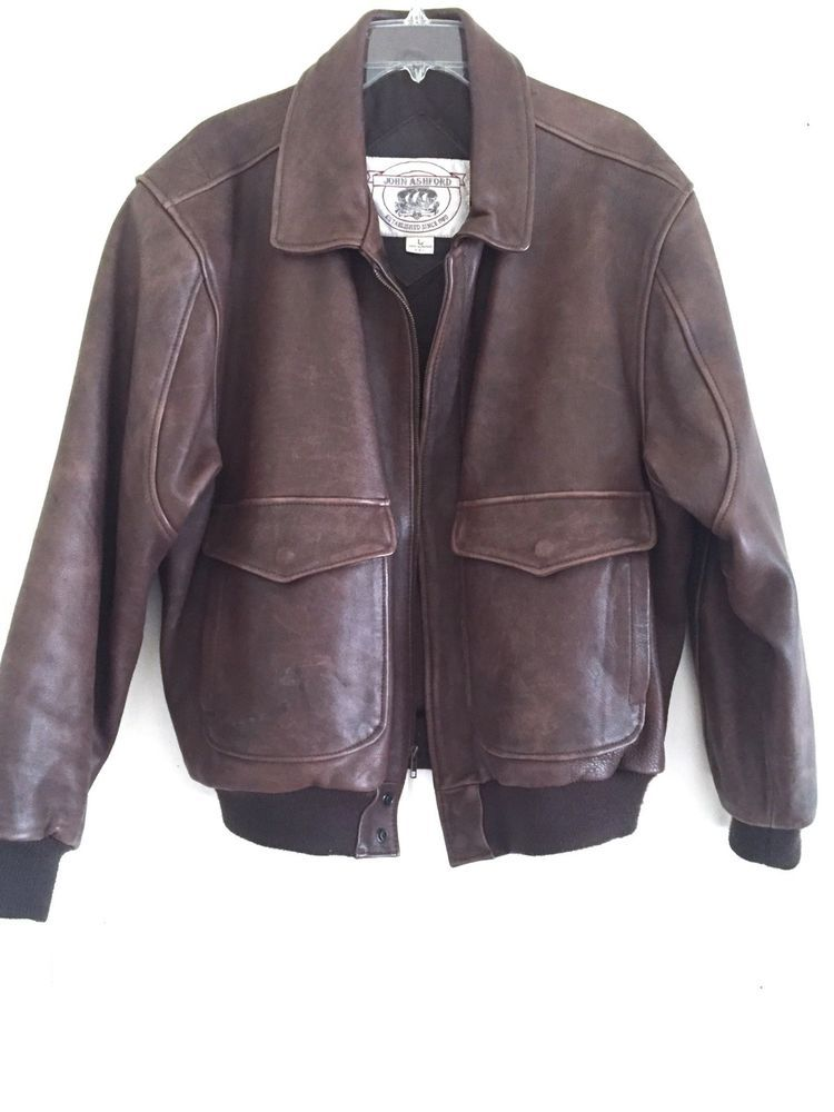 d98801591 Vtg Leather Flight Bomber Pilots Top Gun Jacket Type A2 G3 L John ...