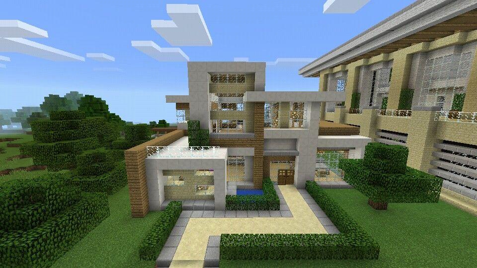 Casa moderna minecraft pe minecraft creaciones for Minecraft moderno