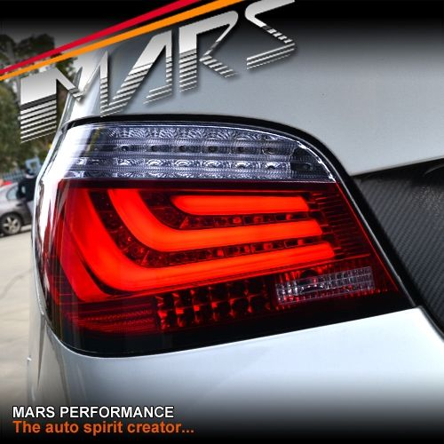 Smoked Red 3d Stripe Bar Led Tail Lights For Bmw 5 Series E60