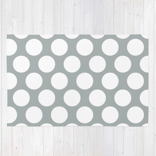 Gray Polka Dot Rug Grey Dots Nursery