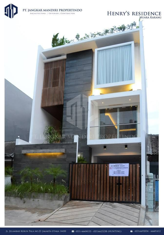 Exterior By Sagar Morkhade Vdraw Architecture: Residential Project In Muara Karang