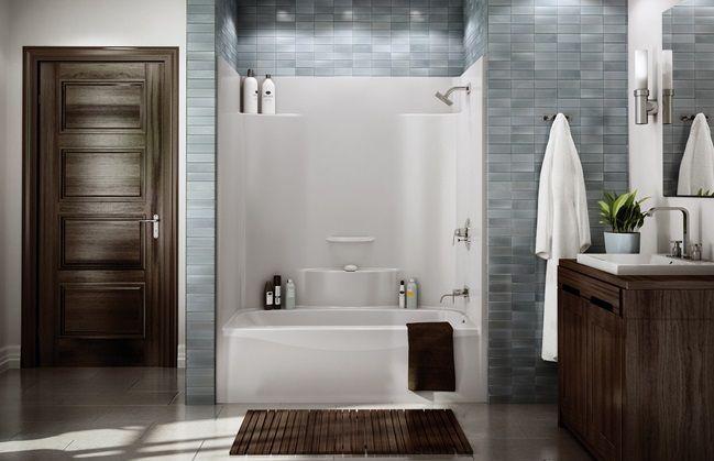 One Piece Tub & Shower | Found on akerbymaax.com | New bathroom ...