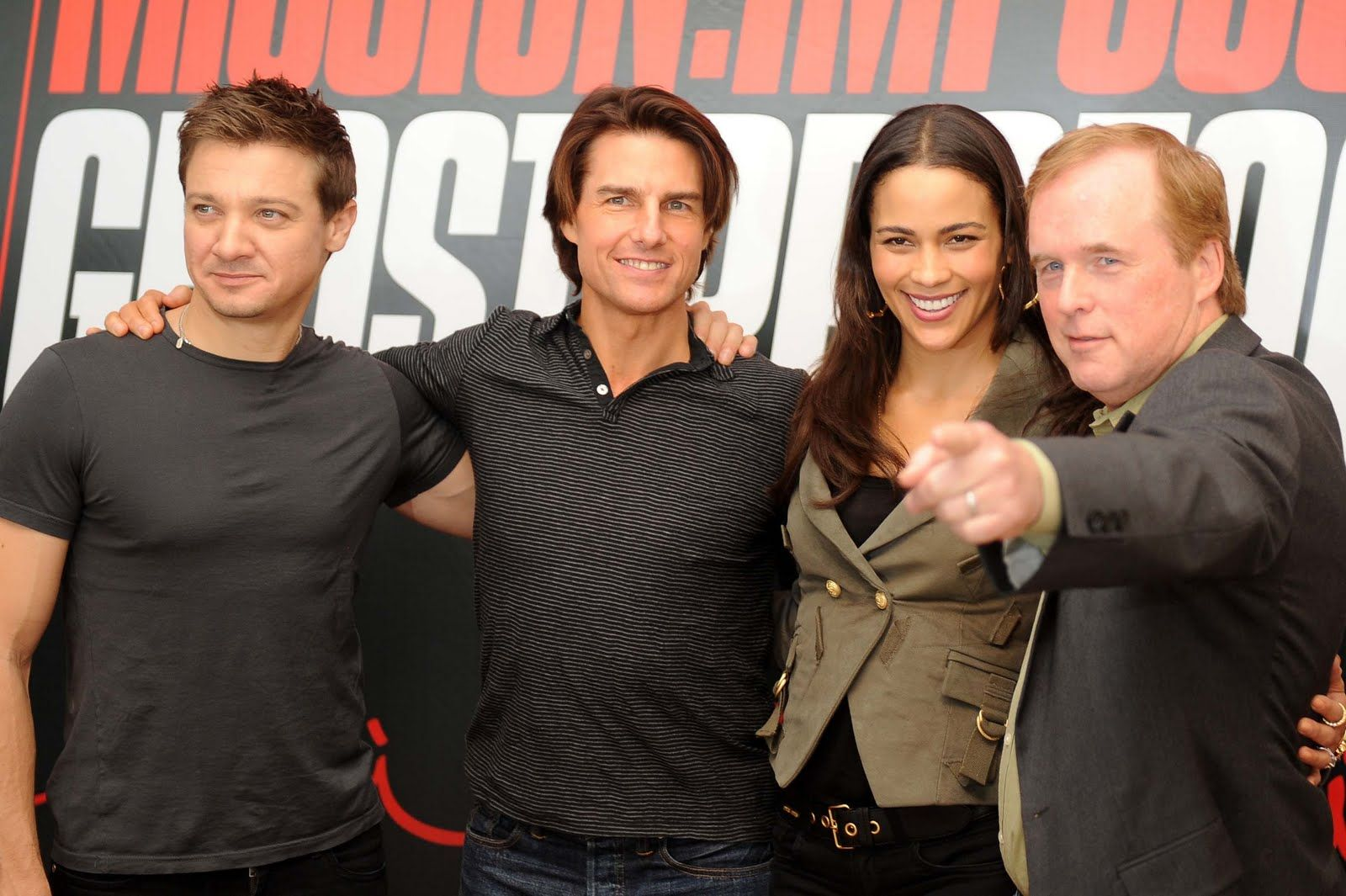 Misson Impossible Ghost Protocol Cast Jeremy Renner Tom Cruise Paula Patton Jeremy Renner Tom Cruise Jeremy
