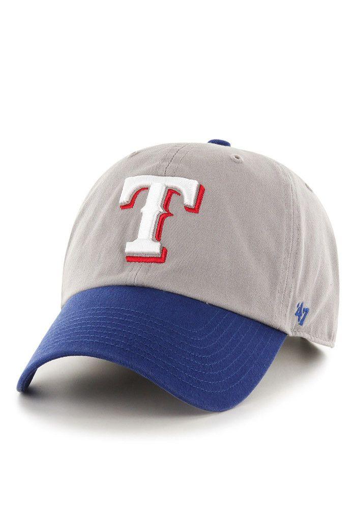 Texas Rangers Clean Up Grey 47 Adjustable Hat Adjustable Hat Hats Texas Rangers
