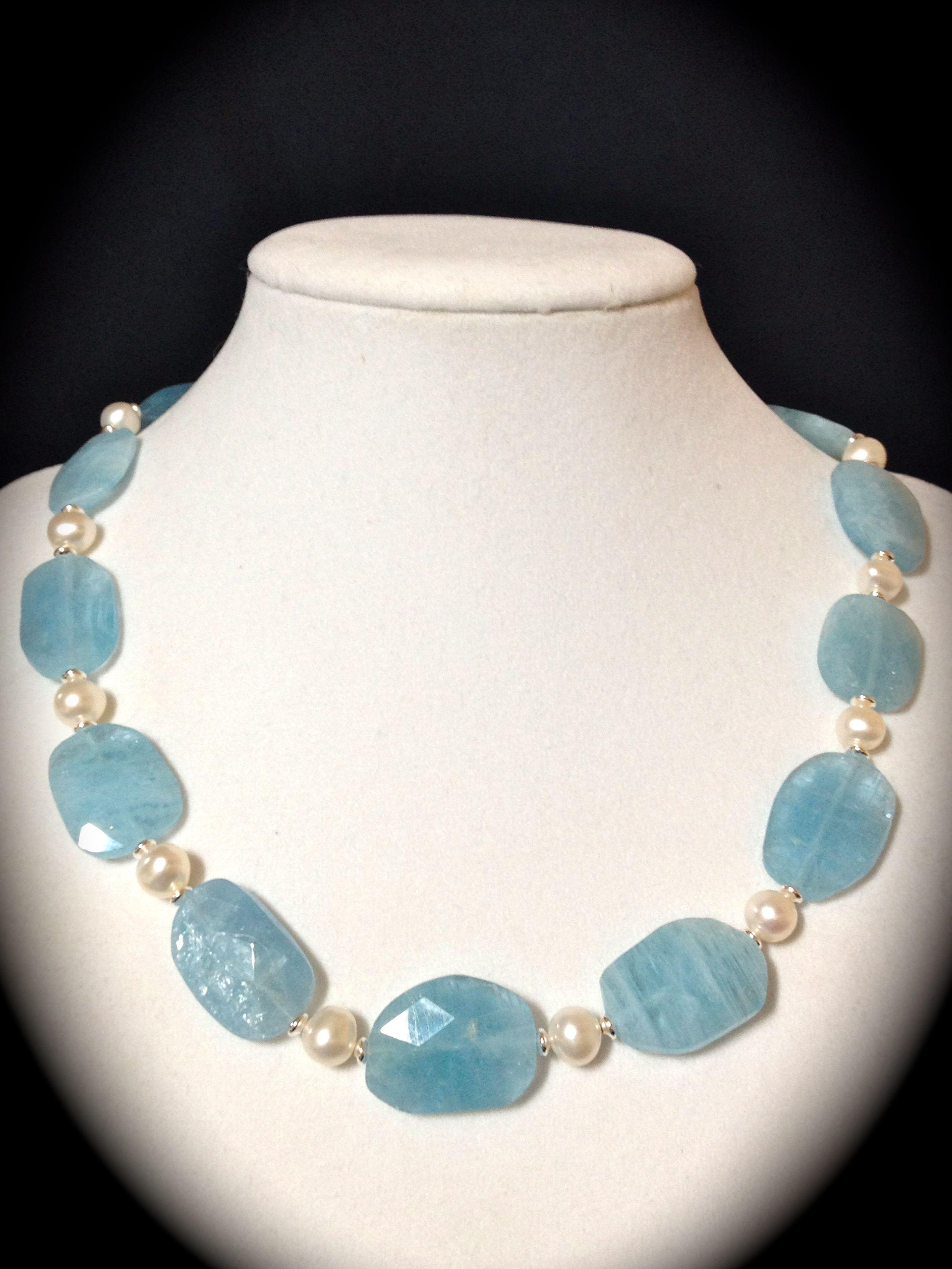 Aquamarine and Pearls