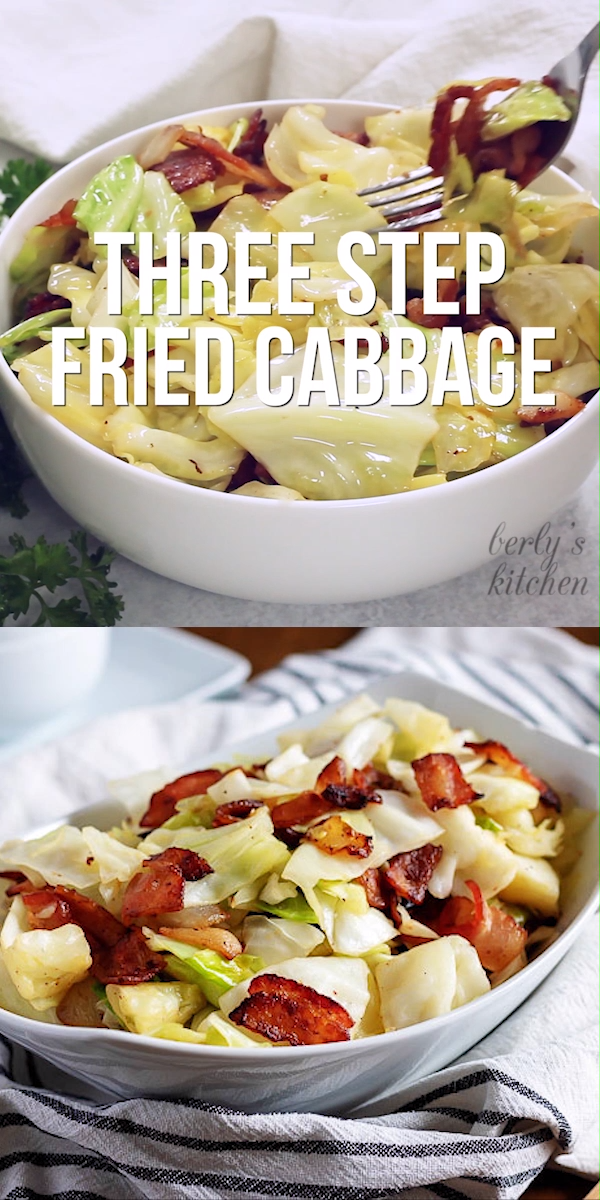 Three Step Fried Cabbage