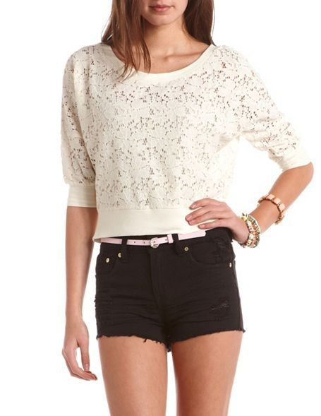 cute outfit Lace Sweatshirt 0e4d18a59