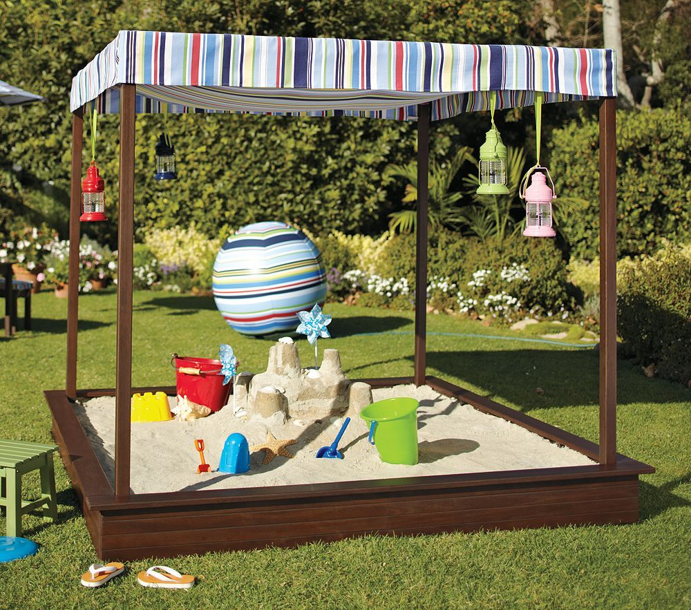 diy sandbox ideas iheart organizing may featured space outdoors sandbox shade - Sandbox Design Ideas
