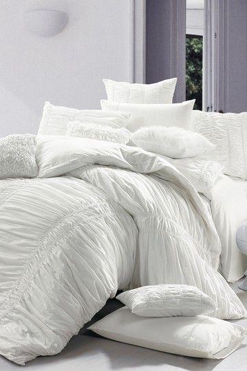 white bedding Room for more Pinterest Home, Duvet sets and