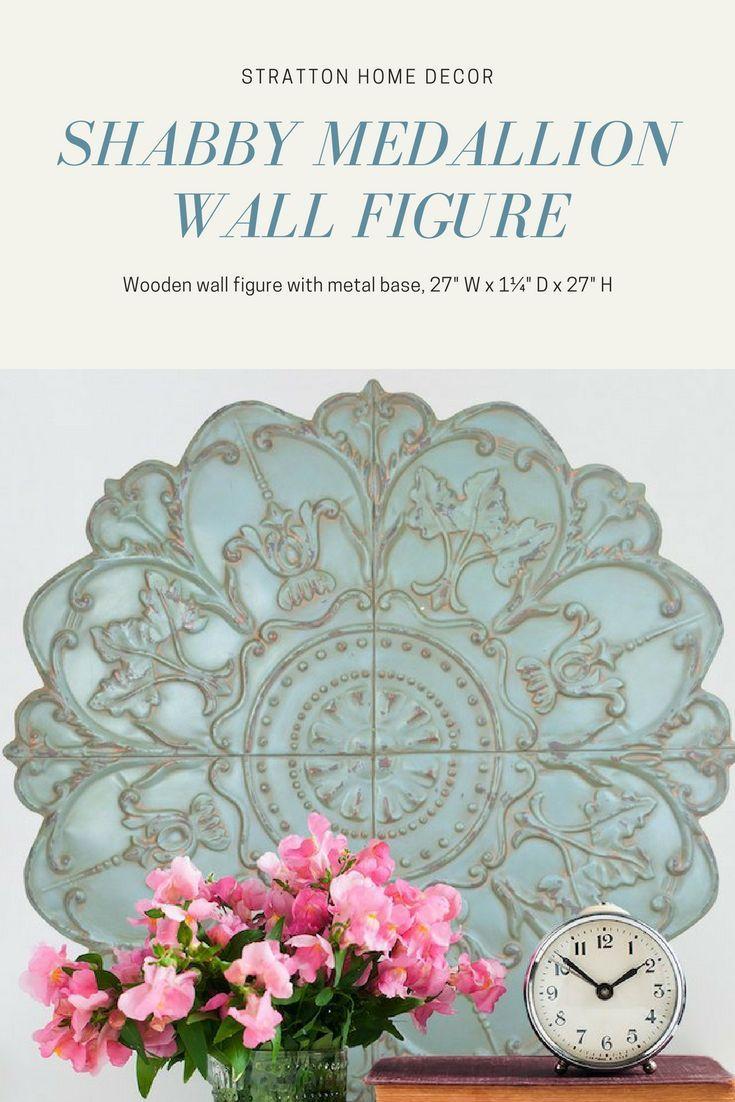 Shabby Medallion Wall Figure Stratton Home Decor This