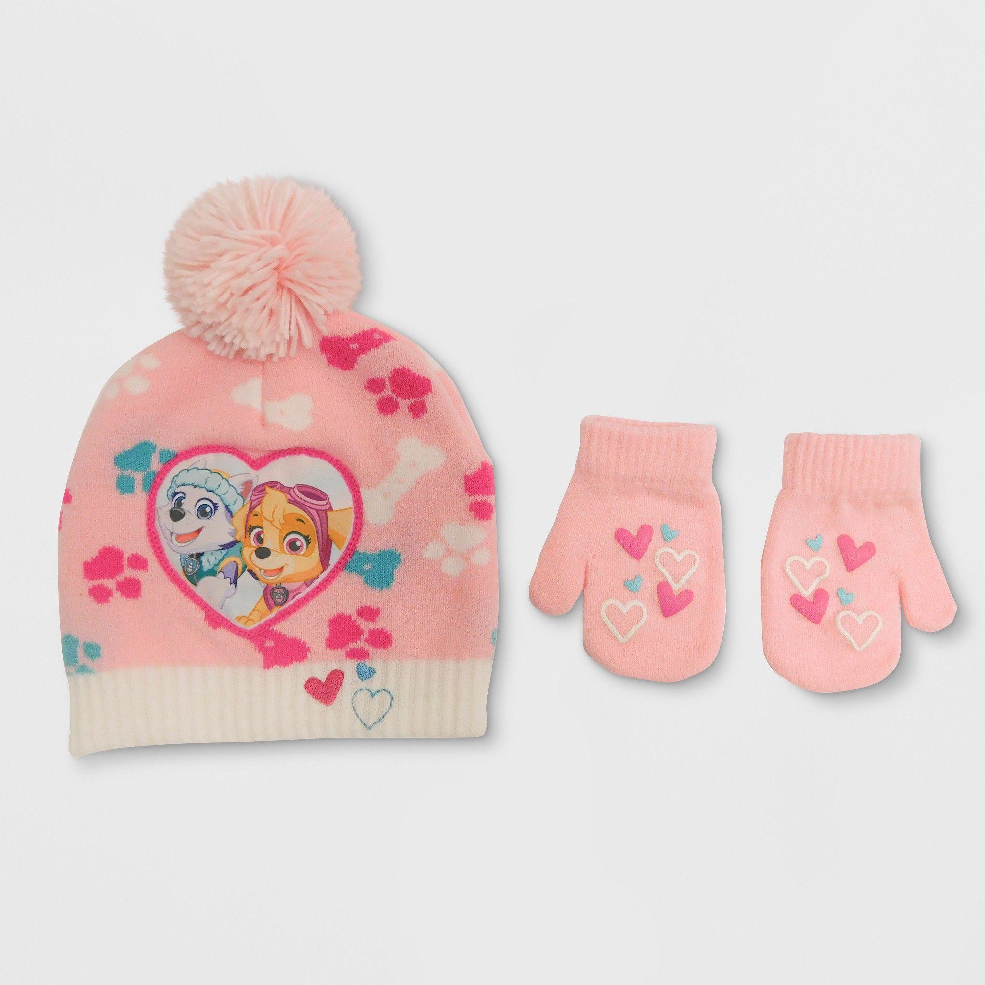 Paw Patrol Toddler Girls  Hat and Mitten Set 988f7c57fa0