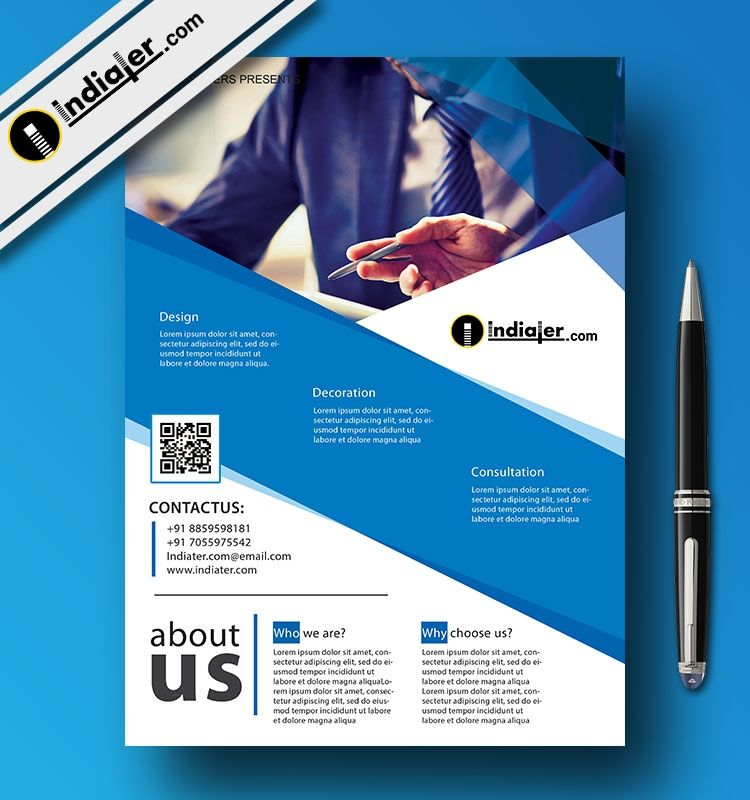 Free Indesign Template Corporate Flyer Brochure: Free Psd Corporate Flyer Templates